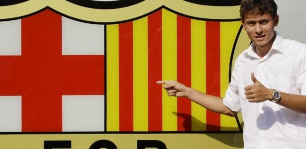 Keirrison em sua passagem pelo Barcelona