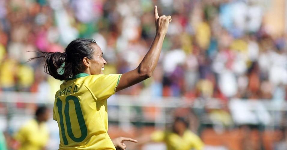 Marta celebra gol contra o México na final do Torneio Cidade de São Paulo
