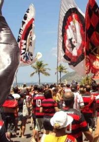 Torcida do Flamengo é só alegria