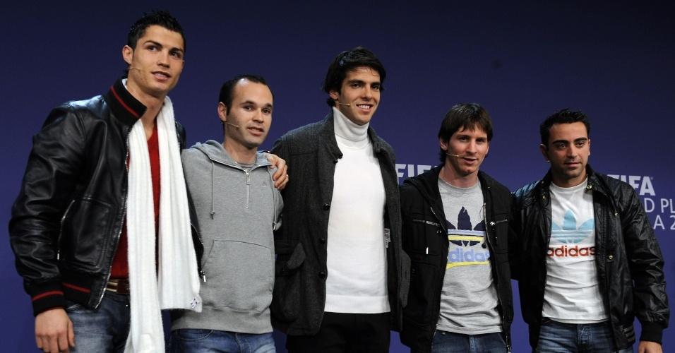 Jogadores posam no Fifa Gala