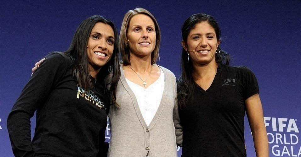 Marta, Kelly Smith e Cristiane concorrem ao prêmio de melhor jogador do ano da Fifa