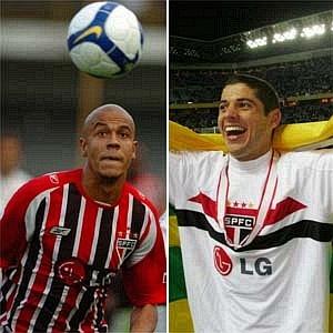 Alex Silva e Cicinho pelo São Paulo