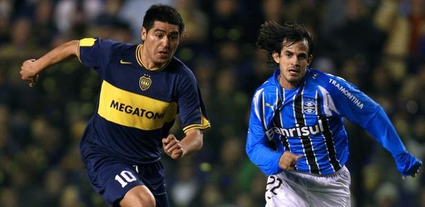 Há 10 anos, clube gaúcho chegou à final e perdeu para o Boca Juniors de Riquelme (foto)