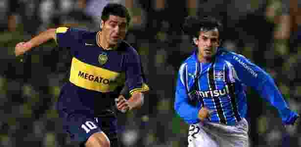 Há 10 anos, clube gaúcho chegou à final e perdeu para o Boca Juniors de Riquelme (foto) - AFP