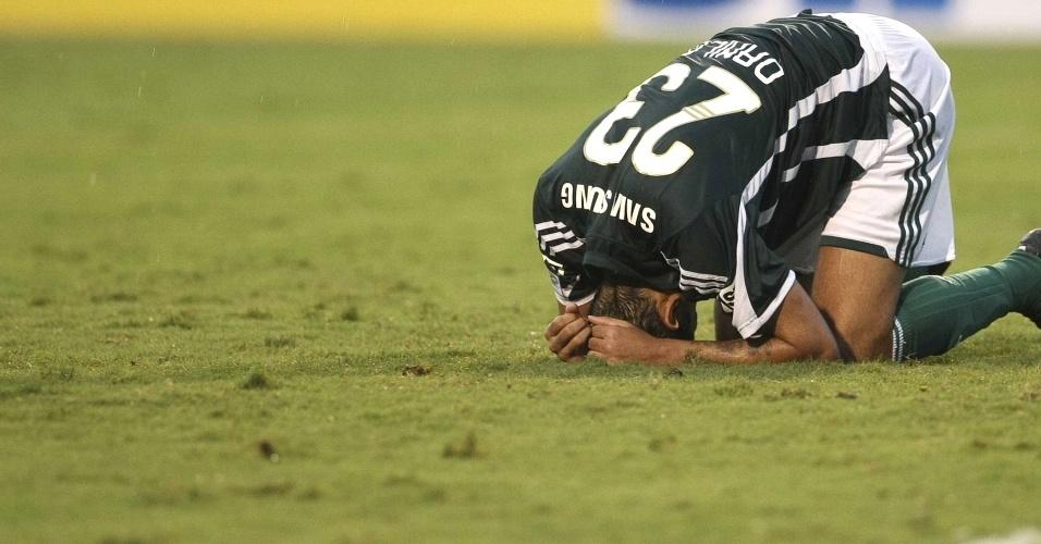 Danilo lamenta a derrota do Palmeiras para o Corinthians