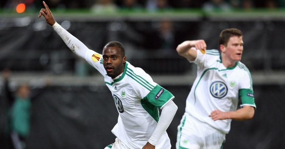 Grafite marca para o Wolfsburg contra o Villarreal e garante a goleada por 4 a 1, na Alemanha