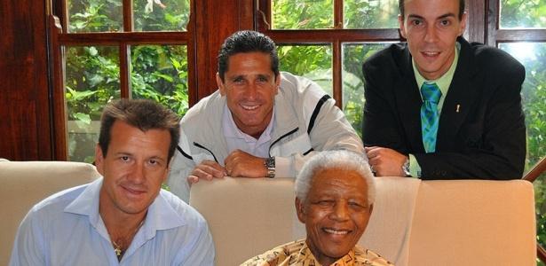 Dunga e Jorginho em visitara a Nelson Mandela