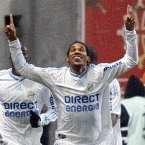 O atacante brasileiro Brandão, do Olympique fez o gol do Olympique no empate contra o Toulouse