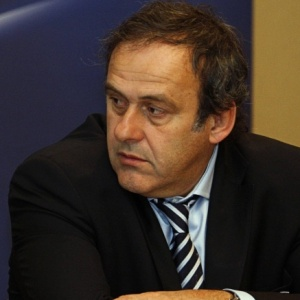 Michel Platini, presidente da Uefa, em reunião do comitê da entidade que aconteceu em Israel