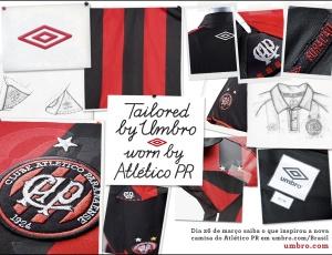 Material de divulgação mostra alguns detalhes do novo uniforme do Atlético, lançado nesta noite