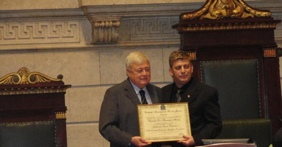 Ricardo Teixeira recebe o título de cidadão honorário do Rio de Janeiro das mãos do vereador Fernando Moraes