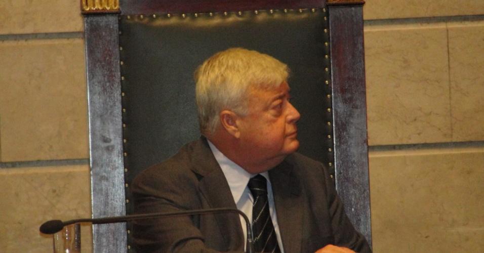 Ricardo Teixeira, presidente da CBF, durante evento na Câmara Municipal do Rio de Janeiro