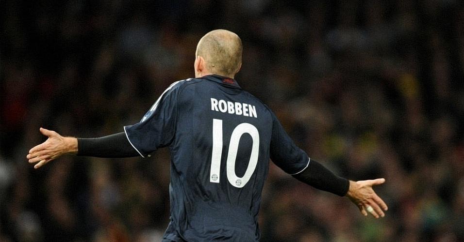 Robben fez o gol da classificação do Bayern contra o Man Utd