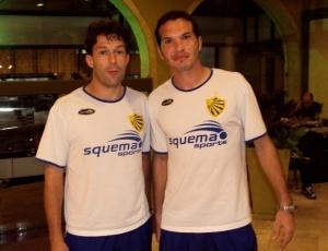 Revelados pelo Grêmio, Gavião e Jonatas (d), 30 anos, garantem experiência no rodado Pelotas