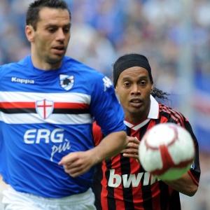 O Milan, de Ronaldinho, até saiu na frente no primeiro tempo, mas não evitou a derrota de virada