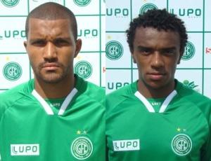 O zagueiro Heverton (e) e o volante Paulo Roberto ficam no Guarani até o final do Brasileiro de 2010