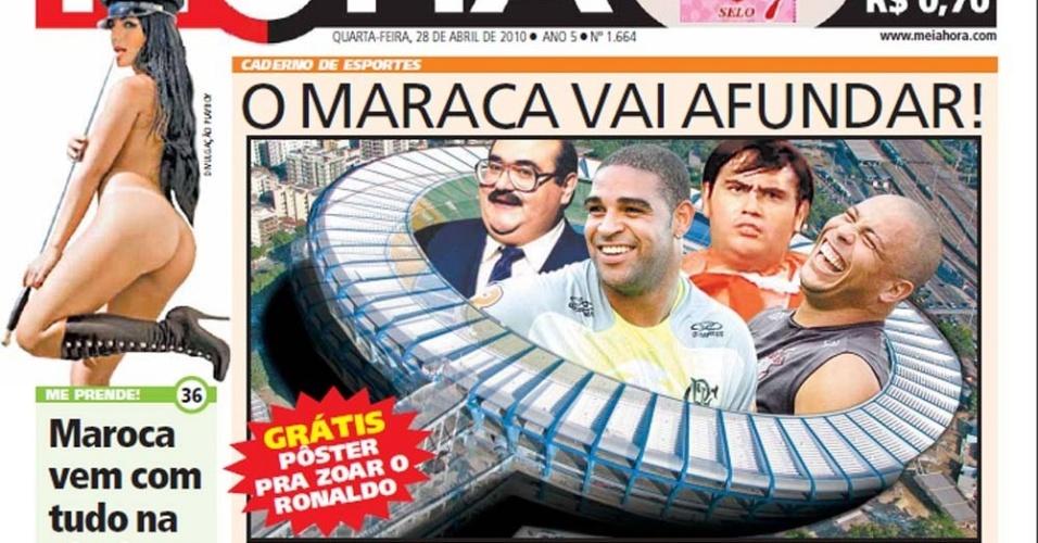 Jornal do Rio de Janeiro brinca com pesos de Adriano e Ronaldo