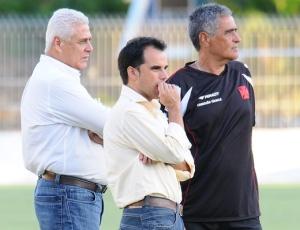 R. Dinamite, Rodrigo Caetano e Gaúcho no treino