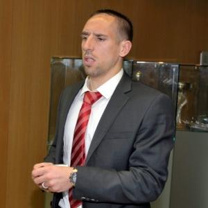 O francês Franck Ribéry, do Bayern de Munique, não poderá jogar a final da Liga dos Campeões