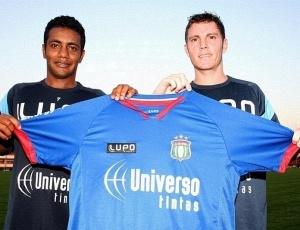 Augusto Recife (e) e Luiz Fernando chegam para reforçar o São Caetano na disputa da Série B
