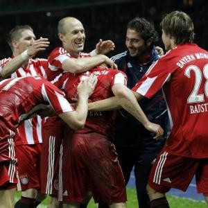 Jogadores do Bayern vibram com gol de Ribery