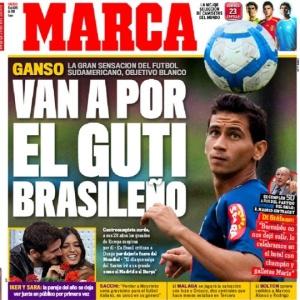 Jornal espanhol Marca destacou Paulo Henrique Ganso em sua capa: Vão trazer o Guti brasileiro