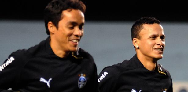 Lúcio e Souza jogaram juntos no Grêmio e agora vão atuar por clubes do interior do RS