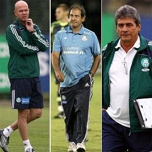 Antonio Carlos, Muricy e Parraga, técnicos do Palmeiras