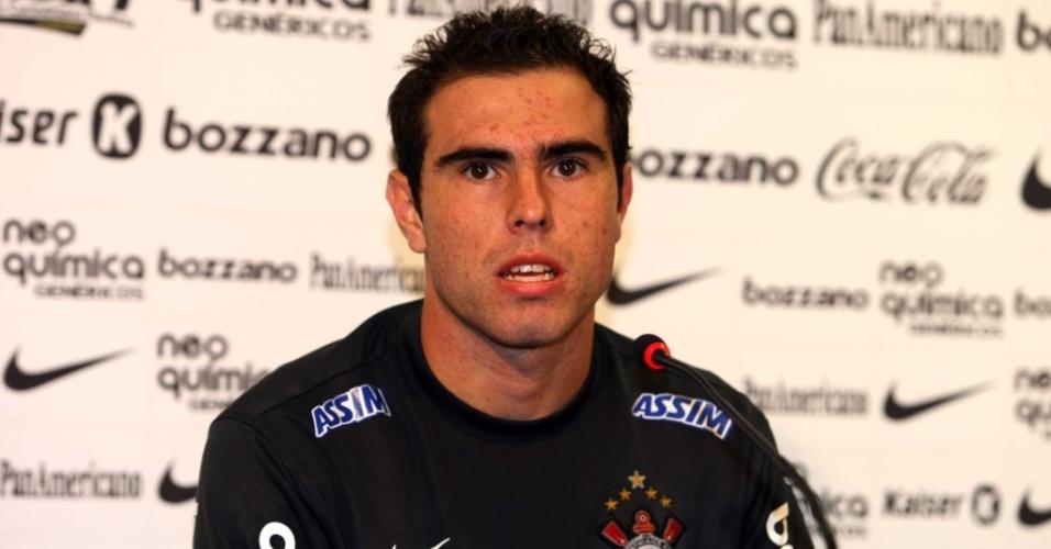 Bruno César, em entrevista no Corinthians