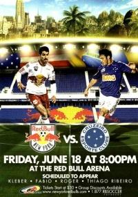 Reprodução do flyer de amistoso do Cruzeiro com o Red Bull New York