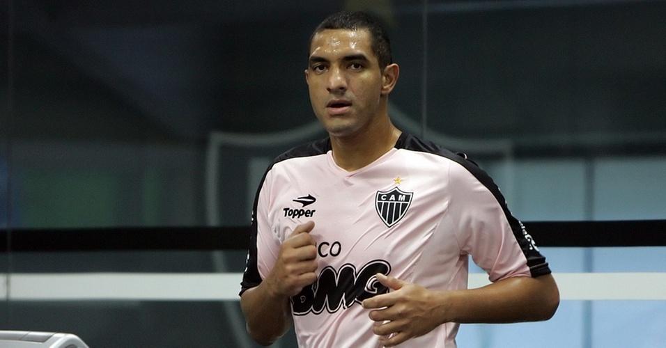 Fábio Costa já treinou no Atlético-MG, após ser oficialmente apresentado