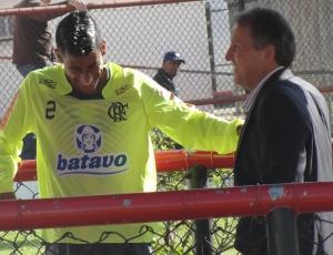 Leo Moura e Zico bateram um papo descontraído