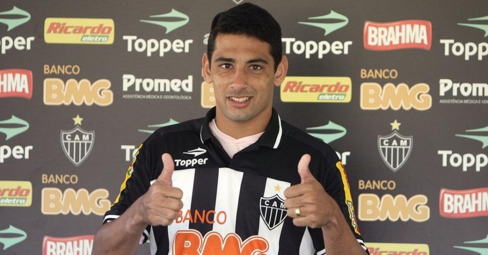 Diego Souza durante apresentação no Atlético-MG