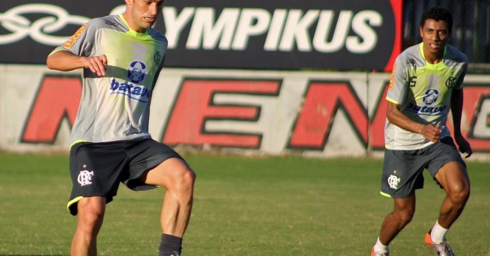 Kléberson participa do treinamento do Flamengo após a disputa da Copa do Mundo