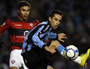 Contra o Vitória e contra o Grêmio Prudente, Jonas passou em branco e o Grêmio não venceu o jogo