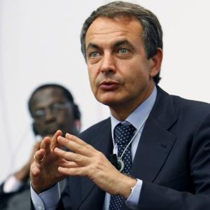 José Luis Rodríguez Zapatero durante a conferência African Progress