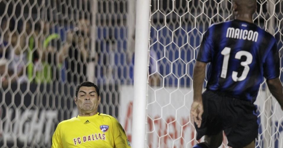 Brasileiro Maicon teve boa participação no empate da Inter