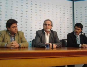 Em coletiva o presidente do Grêmio se disse feliz com a realização do sonho de trazer Renato