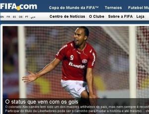 No dia da decisão da Libertadores, site da Fifa publica entrevista com o atacante do Internacional