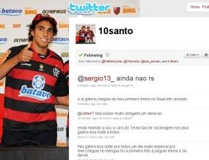 Atacante Diogo deixa mensagem em seu twitter