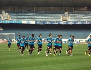 Grêmio treinou nesta terça no estádio Olímpico, na véspera da partida contra o Santos pelo Brasileirão