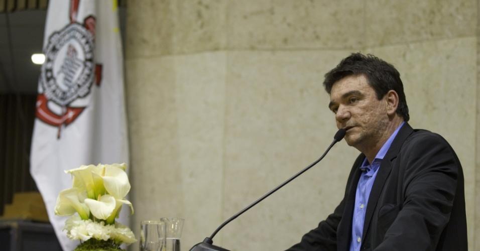 Andrés Sanchez discursa em sessão solene na Câmara Municipal em homenagem ao centenário do Corinthians