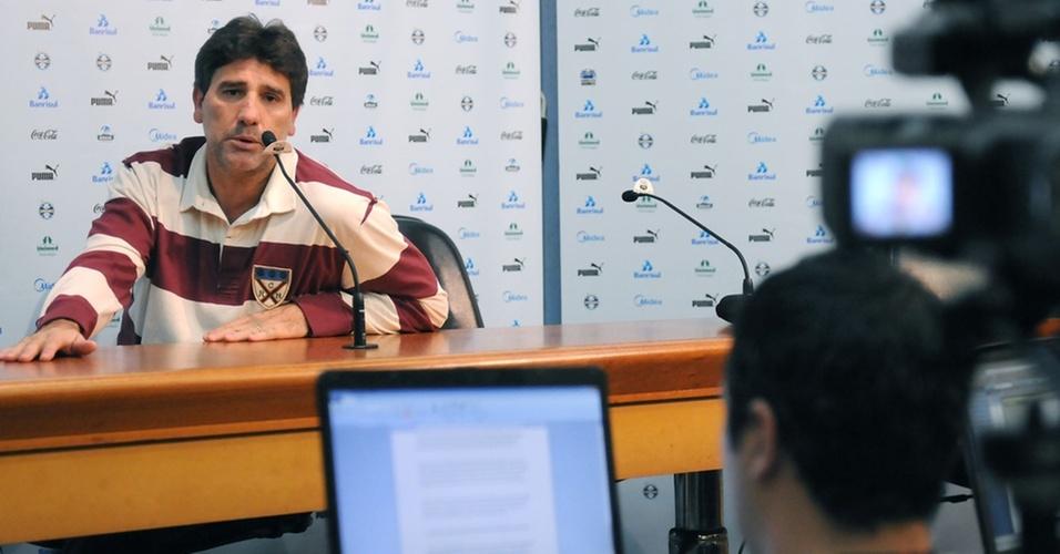 Renato Gaúcho em entrevista coletiva
