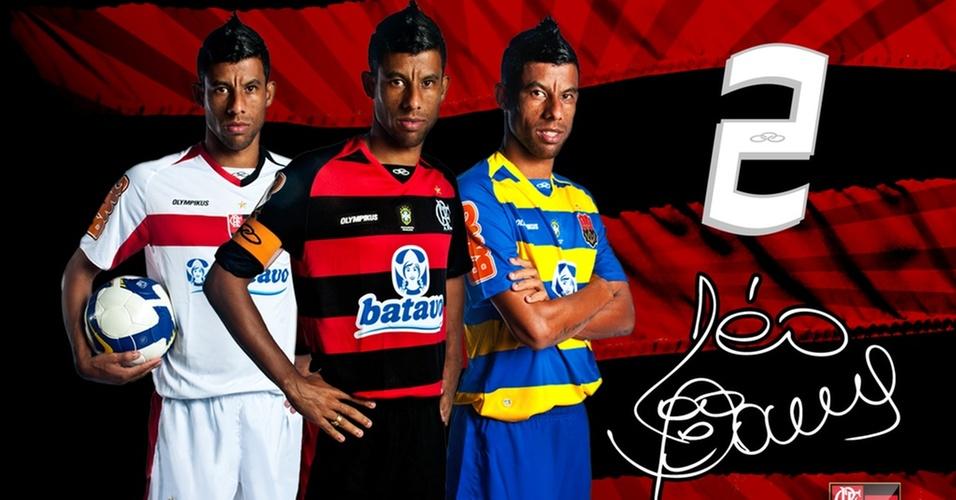 Leo Moura em um dos cards do Flamengo
