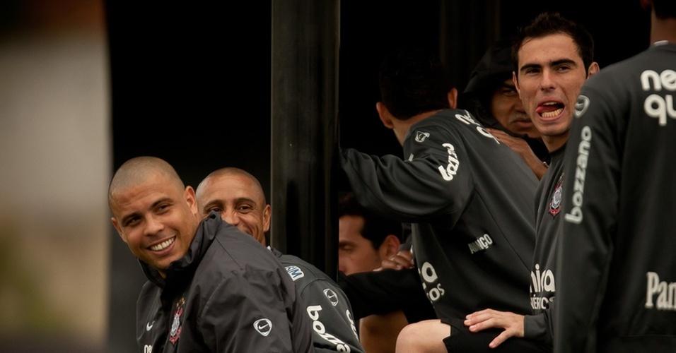 Ronaldo, Roberto Carlos e Bruno César no Corinthians