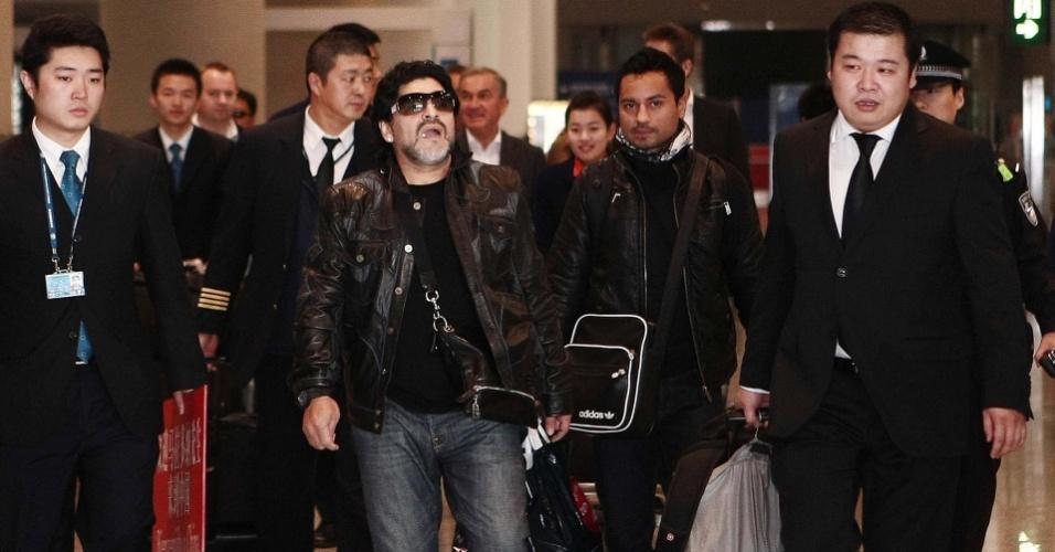 Maradona chega a Pequim para um giro de compromissos na China