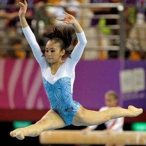 Ginasta Harumi Freitas se garante em três finais nos Jogos Olímpicos da Juventude em Cingapura