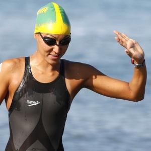 Nadadora Poliana Okimoto é a atual campeã do circuito de Copa do Mundo de maratona aquática