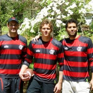 Cesar Cielo (centro), Nicholas Santos e Henrique Barbosa estreiam pelo Flamengo no Maria Lenk