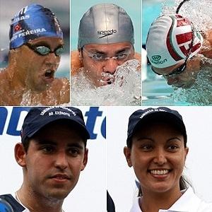 Montagem com fotos de Thiago Pereira, Felipe França, Kaio Márcio, Poliana Okimoto e Luiz Arapiraca